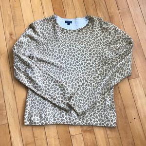 J. McLaughlin animal print sweater